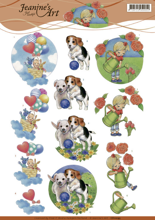 CD11095 3D cutting sheet - Jeanine's Art - Kids