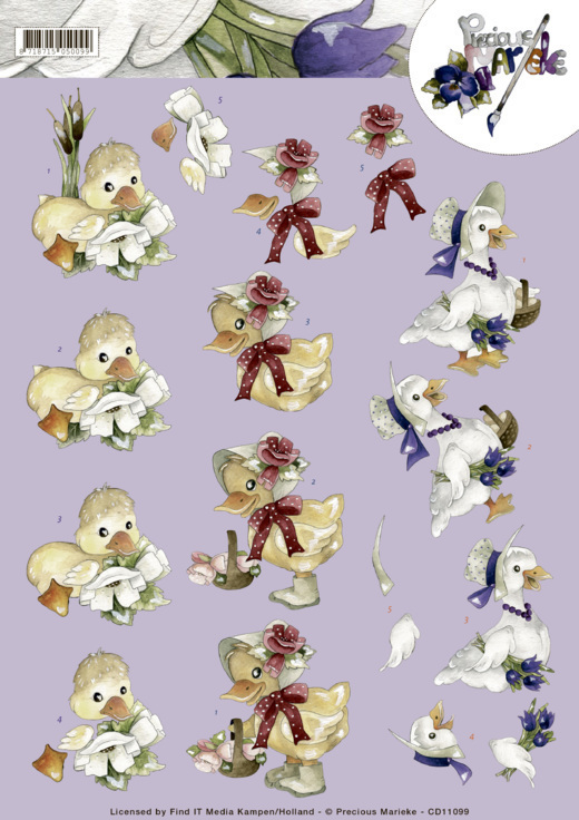 CD11099 3D cutting sheet - Precious Marieke - Spring