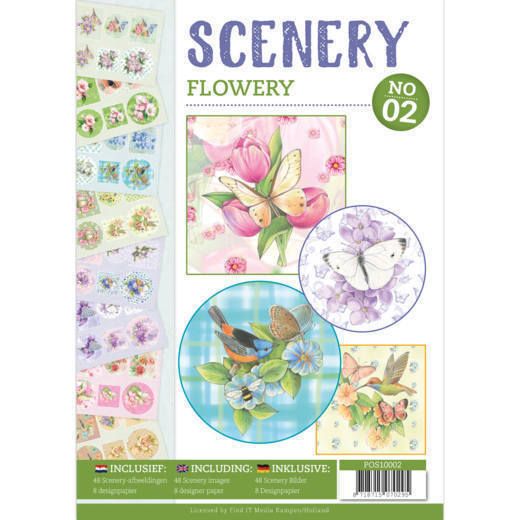 POS10002 Push Out book Scenery 2 - Flowery