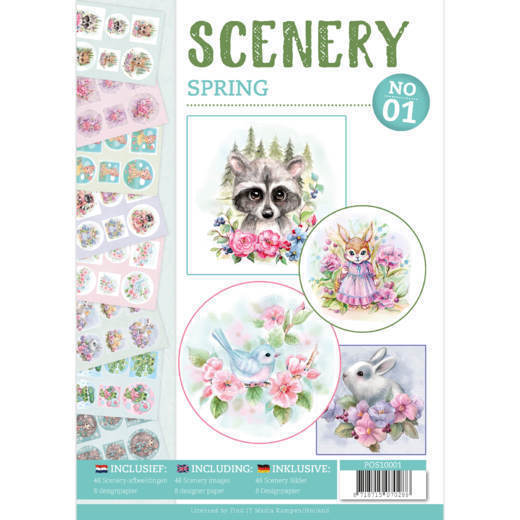 POS10001 Push Out book Scenery 1 - Spring OP=OP