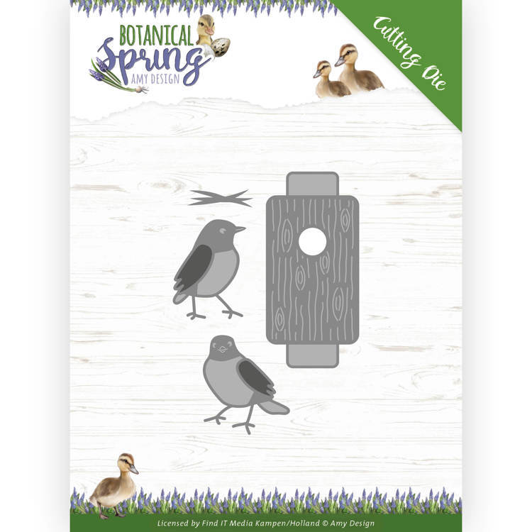 Dies - Amy Design - Botanical Spring - Busy Birds