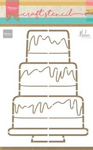 Marianne D Craft Stencil Party cake by Marleen PS8057 210x149mm (04-20)