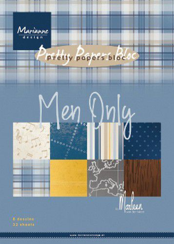 Marianne D Paperpad Men only by Marleen PK9169 A5 4x8 designs (05-20)