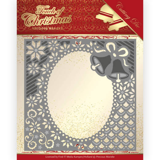 PM10182 Dies - Precious Marieke - Touch of Christmas - Christmas Bells Frame (HJ184)