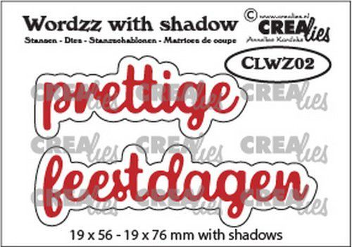 Crealies Wordzz with Shadow Prettige feestdagen (NL) CLWZ02 19x76 mm  (10-20)