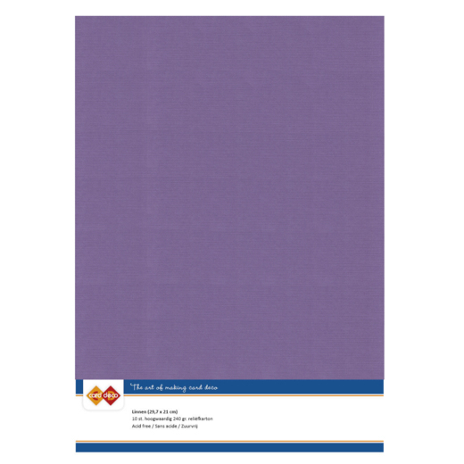 Linen Cardstock - A4 - Grape
