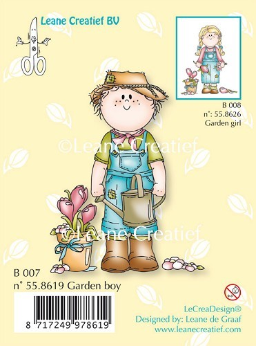 Clear stamp Garden boy 007