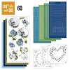 Dot and Do  setje 60 Blauwe bloemen